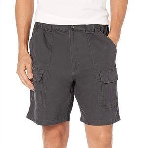 Savane Mens Grey Hiking Cargo Shorts